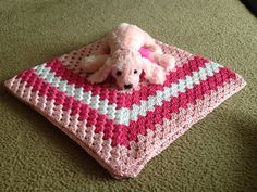 A soft and pretty crocheted baby girl blanket in by WarmBlanket