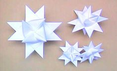 How to make paper German Christmas stars