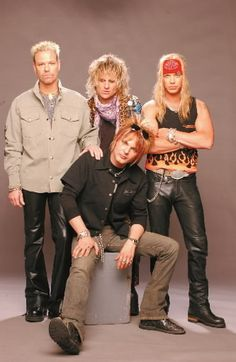 Shown here with a, believe it or not, more toned down image, Poison is a 1980s hair-metal band. The group still tours today, but with less voluminous hair. Other hair-metal bands like Guns & Roses, White Snake and Motley Crue equally epitomize the Hair/Glam-Metal bands of the '80s.