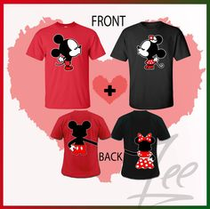 Mickey and Minnie kissing Inspired Soul MateMix and by AMYnZEE, $29.99