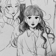 Anime pics 田 (@morikomorl) / Twitter Anime Drawings Sketches, Cool Drawings, Pencil Art Drawings, Pretty Art, Cute Art, Manga Art, Anime Art, Character Art, Character Design
