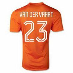 Nueva Camiseta de Vandervaart Holland Primera por Mundo 2014