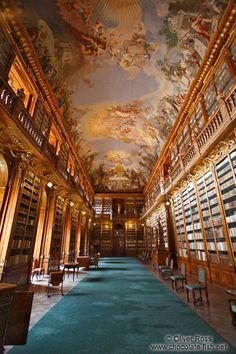 The Strahov Monastery Library in Prague.