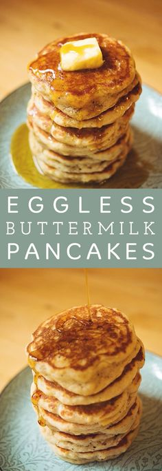 Eggless Buttermilk Pancakes - A Butterful Mind