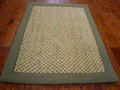 RugStudio presents Safavieh Natural Fiber NF443C Natural / Green Sisal/Seagrass/Jute Area Rug