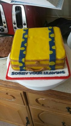 Darren's leaving cake