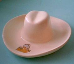 42fee816bab Haldeman Caliente pottery cowboy hat ashtray Cowboy Hats