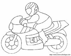 ausmalbild motorrad 1