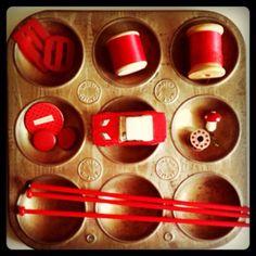 Vintage notions on my desk  #red #vintage #meridianariel
