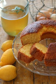 Bolo de limão e gengibre