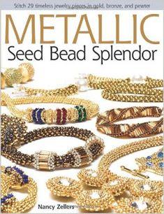 Book review: Metallic Seed Bead Splendor. #jewelrymaking #diyjewelry #jewelrytutorial #bookreview #beadweaving