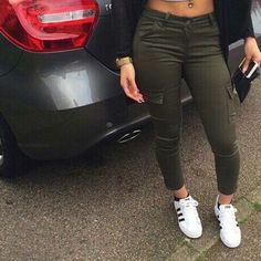 Casual Pocket Long Pants