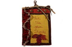 Thanksgiving wall hanging rustic holiday by JoJosArtisticDesign