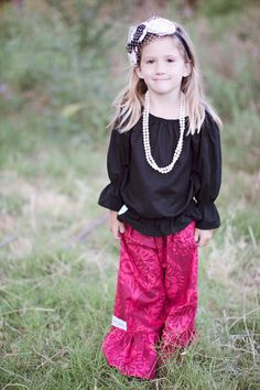 TODDLER Children's Ruffle Pants by Kait by KaitEmersonDesigns, $34.00
