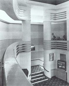 The Odeon cinema with an art deco interior. Opened in September Designed by the architect George Coles.(Photo by courtesy of David Cook. Art Deco Decor, Art Deco Design, Decoration, Estilo Art Deco, Cinema Architecture, Architecture Details, Art Nouveau, Art Deco Period, Art Deco Era