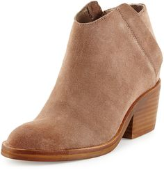 """Dolce Vita Tenga SUEDE BOOTIE. RPR: $139. PRICE: $84. You SAVE $55 (40%).  Colour: TAUPE. Sizes: 6,8 ½. DETAILS: SUEDE Bootie;  3.5"""" Heel; 10.5"""" Height; ALMOND-Toe; Hidden ZIPPER for EASE of DRESS; PADDED foot-bed; Manmade Sole.. MORE via: http://sd4shila.blogspot.co.uk/2014/01/amazon-fashion.html OR http://sd4shila.blogspot.co.uk/2014/01/amazon-shoe-store.html OR http://sd4shila.blogspot.co.uk/2013/12/great-winter-fashion-trends-this-season_19.html OR…"""