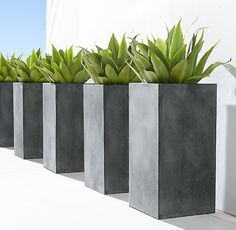 RH's 4' Estate Zinc Square Planter:Recalling pots from 19th-century English and Belgian estate gardens, these stately planters are crafted in a family-owned workshop in Bulgaria.