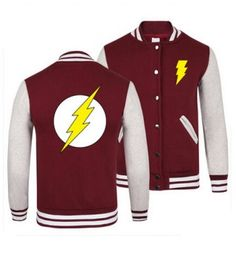 XXXL superhero The Flash baseball jackets for youth spring sweatshirt