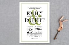 Wed in Type by Ariel Rutland at minted.com