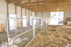 Pen Areas in the Barn