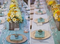 love the colors and the succulent favor