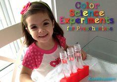 Color Science Experiments for Preschoolers - KneeBouncers