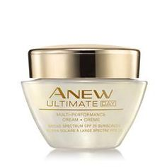 Anew Ultimate Multi-Performance Day Cream Broad Spectrum SPF 25 on sale! LEARN which Avon Anew Products to use!