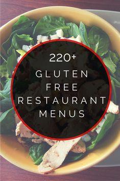 220+ Gluten Free Restaurant Menus
