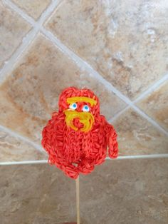 Rainbow loom charms The Lorax figures. How to is on my pattern board: Designed and loomed by Cheryl Spinelli : how to pattern is on my pattern board