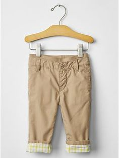 Pull-on lined khakis | Gap