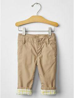 Pull-on lined khakis   Gap