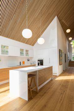 Interior Exterior, Kitchen Interior, Home Interior Design, Interior Architecture, Kitchen Design, Interior Decorating, Loft, Narrow House, A Frame House