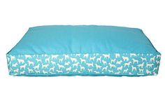 Turquoise dog bed
