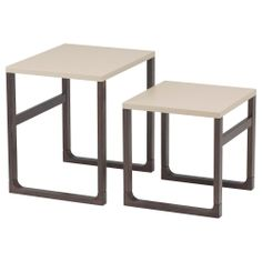 these may or may not be that cute but the idea is great for Paris - nesting tables. RISSNA Mesa nido, j2 50x40x50 y 40x38x40 / 99 e