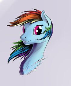 Rainbow Dash portrait by Batonya12561