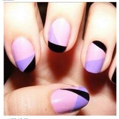 Pink and Lavender Color Block