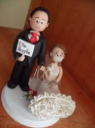 novios para pastel de bodas.