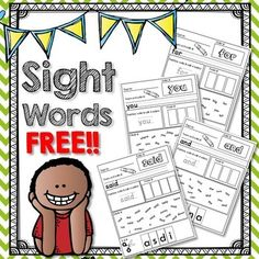 free reading inc sites Dolch Pre-Primer Sight Word Pack!Use these sight words to practice in small groups, morning work, individually, for homework, or with the whole class! No pr Preschool Sight Words, Teaching Sight Words, Sight Word Practice, Sight Word Games, Sight Word Activities, Preschool Activities, Writing Practice, Kindergarten Sight Words Printable, Reading Activities