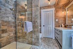 Pebble stone, wood and quartz. Galets de rivière, bois laqué et quartz. Bad, Alcove, Bathrooms, Bathtub, Interior, River Pebbles, Bespoke Furniture, Living Spaces, Bath
