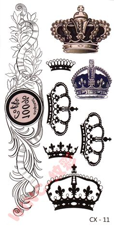 10set-only-19-9-Fashion-Cute-Small-crown-tattoo-stickers-waterproof-male-Women-Safe-For-Skin.jpg (817×1657)