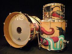 The Custom NRG Drum Kit! #drum