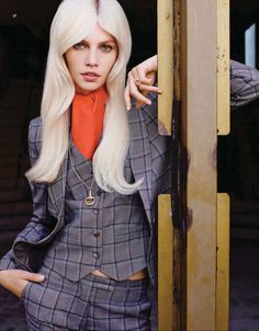 @alineweber_real - 70s Revival - Vogue China Collections December 2014 Matt Irwin @clm_uk_ny_la via vogue.com.cn  for #hair
