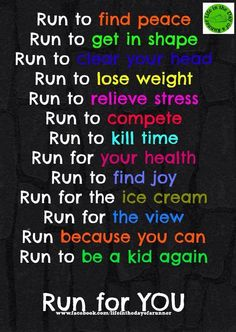 #Running #reasons  Run to benefit a cause...Run to give back....Run for those who cannot run