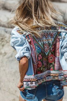 wild, free, denim, jacket, fall, inspo #EmbroideryJeanJacket