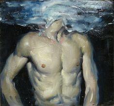 Malcolm T. Liepke, Man Underwater on ArtStack #malcolm-t-liepke #art