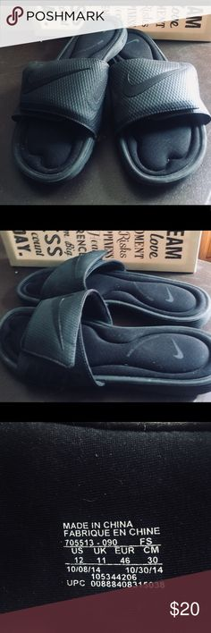 d21c27ab0b1 Nike Slides with Velcro! comfort Sole sz 12 Great condition hardly war! Top  is