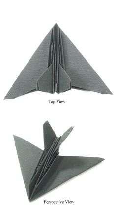 How to Make Origami Airplanes (origami stealth aircraft) Origami Rocket, Origami Airplane, Stealth Aircraft, How To Make Origami, Paper Crafts Origami, Basic Shapes, Origami Tutorial, Craft Projects, Project Ideas