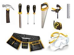 10 Piece Toolset. This is a great starter tool kit for kids. The tools are kids sized but are real tools they can use for small building projects.