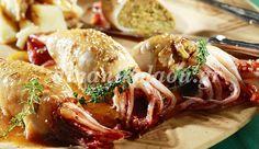 Καλαμάρια ψητά, γεμιστά με μυρωδικά Greek Recipes, Fish And Seafood, Burritos, Shrimp, Meat, Chicken, Greek Beauty, Kitchens, Drink
