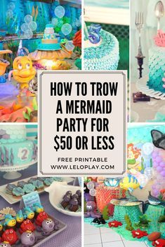 Free-Printable Little Mermaid Birthday Party Calling all mermaids under the sea; I've got a party for you that's as cute as can be! I created this adorable Little Mermaid Set that will be a great addition for your party!